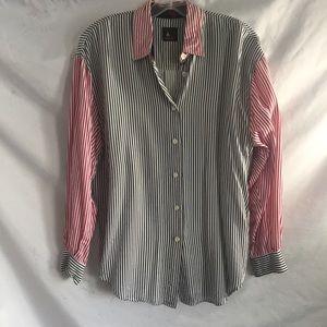 Vintage Lizsport striped blouse M